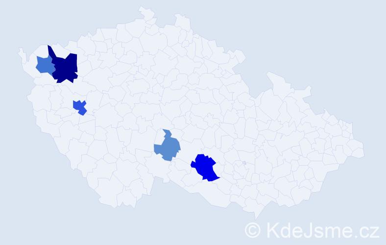Příjmení: 'Eichacker', počet výskytů 14 v celé ČR