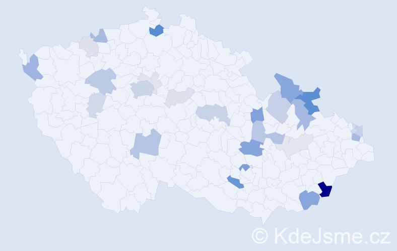 Příjmení: 'Krajči', počet výskytů 83 v celé ČR