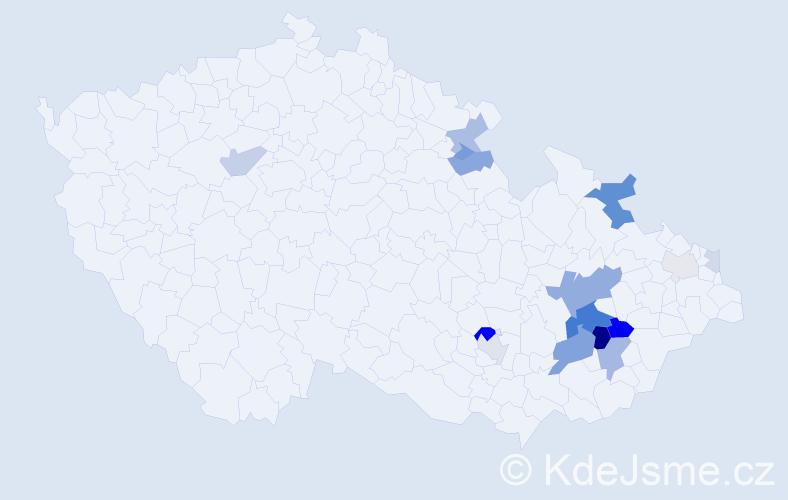 Příjmení: 'Drcmánková', počet výskytů 47 v celé ČR