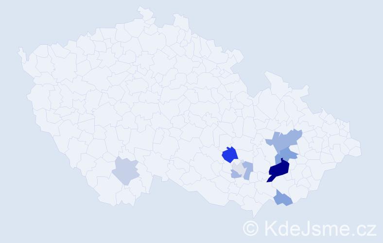 Příjmení: 'Hepplerová', počet výskytů 17 v celé ČR