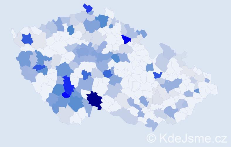 Příjmení: 'Hauser', počet výskytů 498 v celé ČR