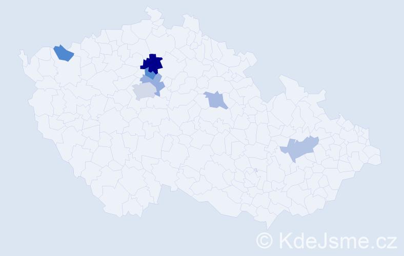 Příjmení: 'Lana', počet výskytů 11 v celé ČR