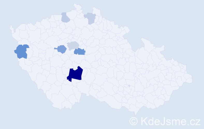Příjmení: 'Basíková', počet výskytů 39 v celé ČR