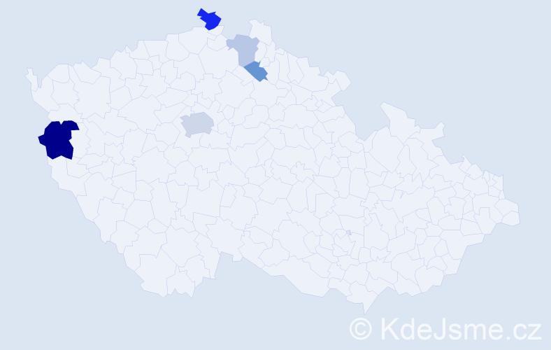 Příjmení: 'Csikósová', počet výskytů 11 v celé ČR