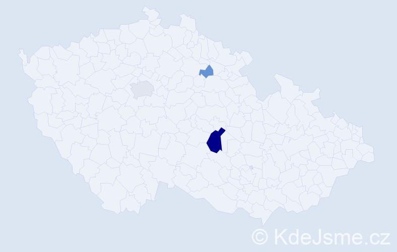 Příjmení: 'Eler', počet výskytů 10 v celé ČR