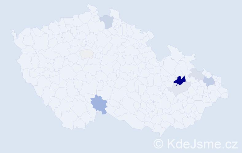 Příjmení: 'Géblová', počet výskytů 18 v celé ČR