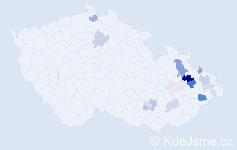 Příjmení: 'Galčan', počet výskytů 48 v celé ČR