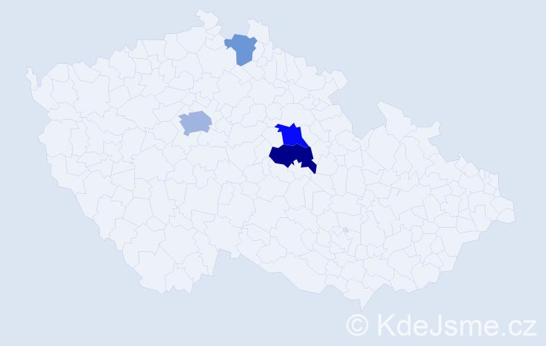 Příjmení: 'Dračínská', počet výskytů 8 v celé ČR
