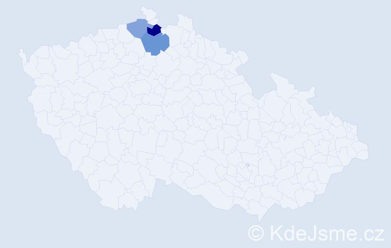 Příjmení: 'Jawich', počet výskytů 8 v celé ČR