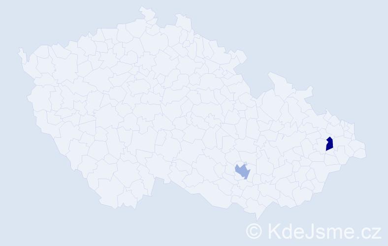 Příjmení: 'Eade', počet výskytů 2 v celé ČR