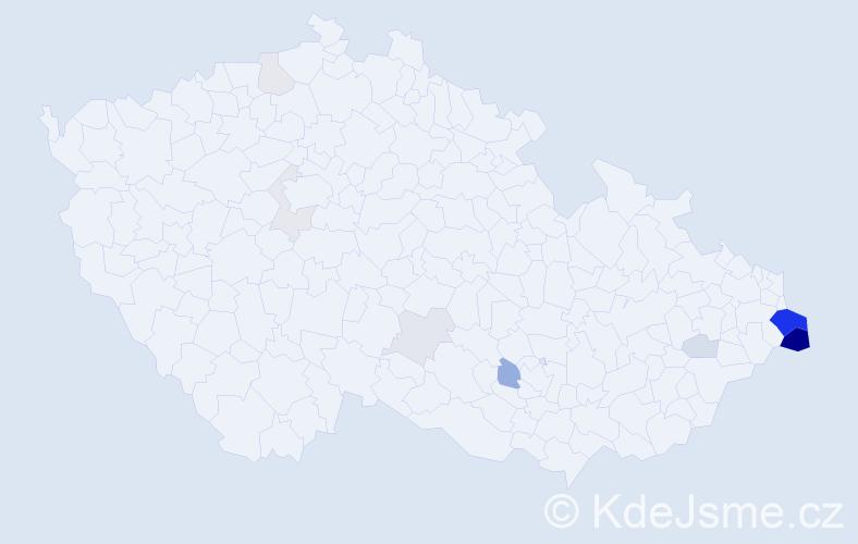 Příjmení: 'Hudzieczek', počet výskytů 33 v celé ČR
