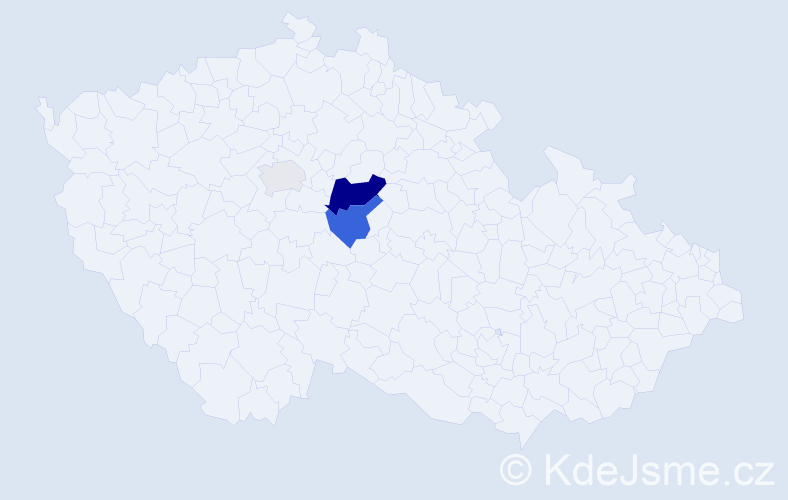 Příjmení: 'Fitzbauer', počet výskytů 8 v celé ČR