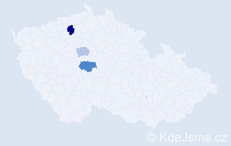 Příjmení: 'Ladianská', počet výskytů 5 v celé ČR