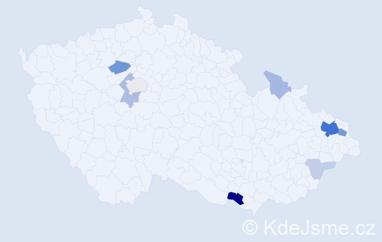 Příjmení: 'Figel', počet výskytů 32 v celé ČR
