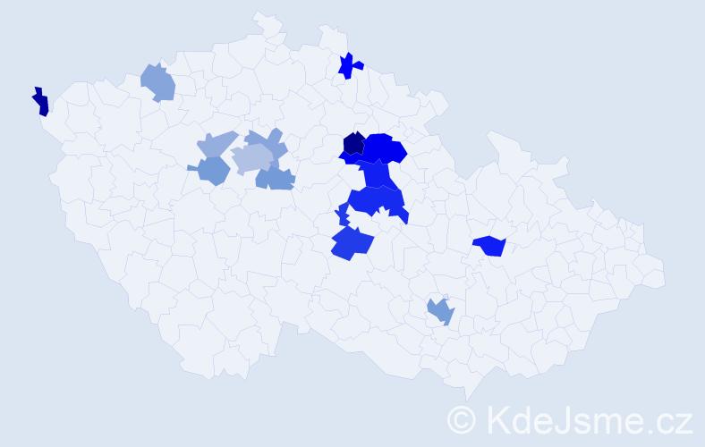 Příjmení: 'Ivantsyuk', počet výskytů 32 v celé ČR