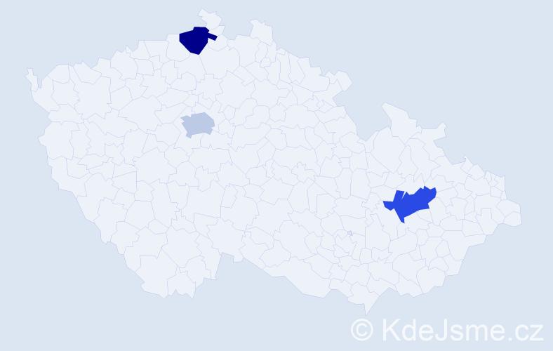 Příjmení: 'Garwasiuková', počet výskytů 3 v celé ČR
