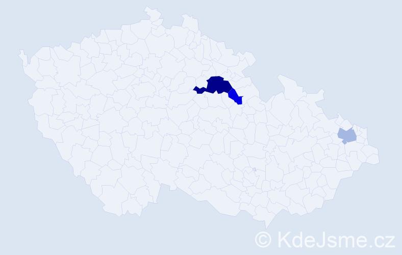 Příjmení: 'Janošič', počet výskytů 15 v celé ČR