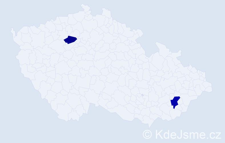 Příjmení: 'Careddu', počet výskytů 3 v celé ČR