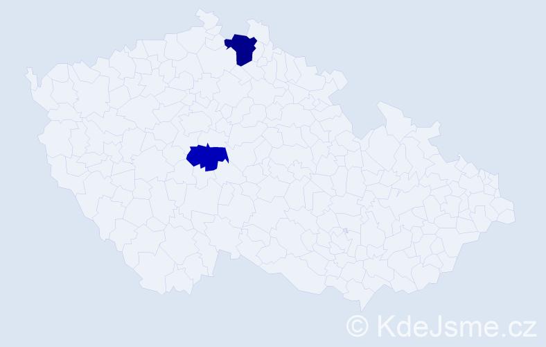 """Příjmení: '""""El Mahi""""', počet výskytů 3 v celé ČR"""