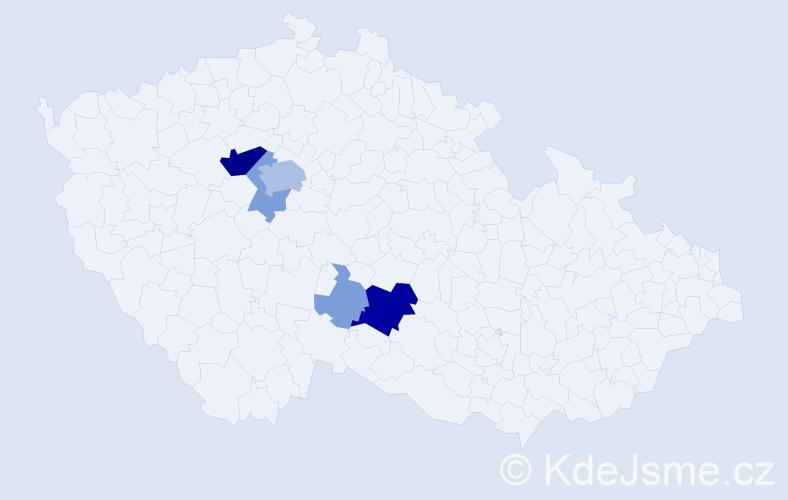 Příjmení: 'Angelisová', počet výskytů 23 v celé ČR