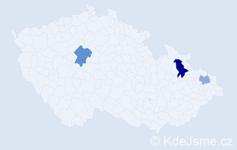 Příjmení: 'Árvai', počet výskytů 10 v celé ČR