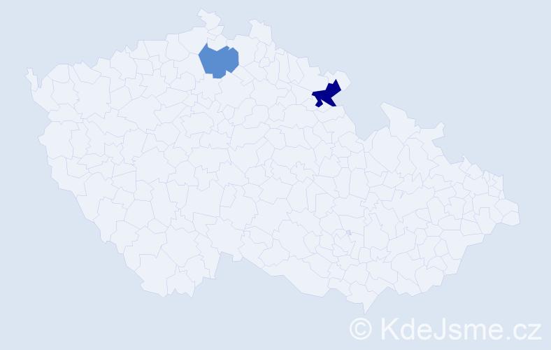 Příjmení: 'Ergüneş', počet výskytů 3 v celé ČR