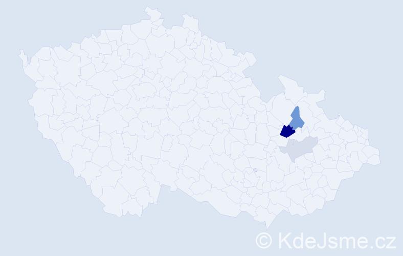 Příjmení: 'Angetterová', počet výskytů 6 v celé ČR
