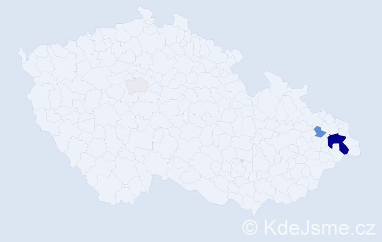 Příjmení: 'Causidis', počet výskytů 10 v celé ČR