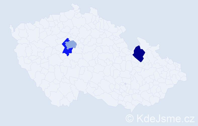 Příjmení: 'Berlínská', počet výskytů 4 v celé ČR