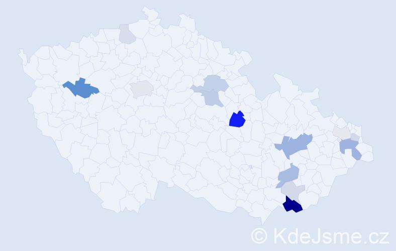 Příjmení: 'Hyžová', počet výskytů 35 v celé ČR