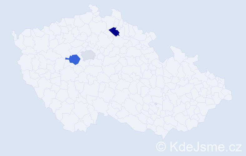 Příjmení: 'Bělostík', počet výskytů 3 v celé ČR