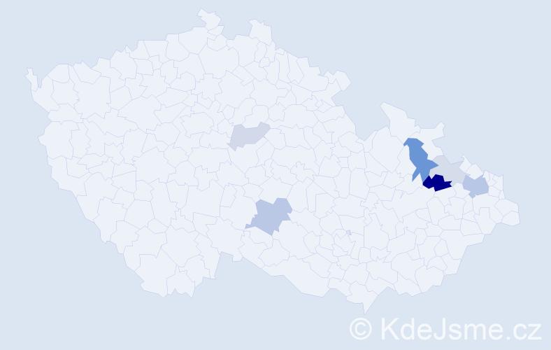 Příjmení: 'Helembaiová', počet výskytů 15 v celé ČR