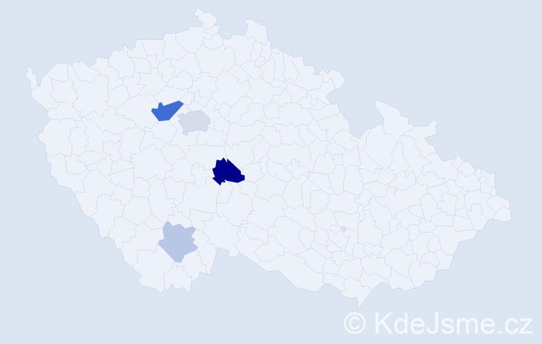 Příjmení: 'Čambula', počet výskytů 10 v celé ČR