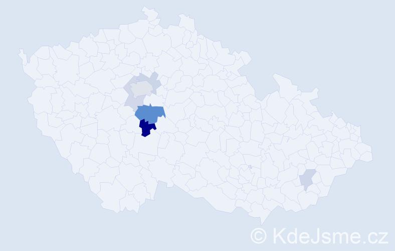 Příjmení: 'Daliba', počet výskytů 13 v celé ČR