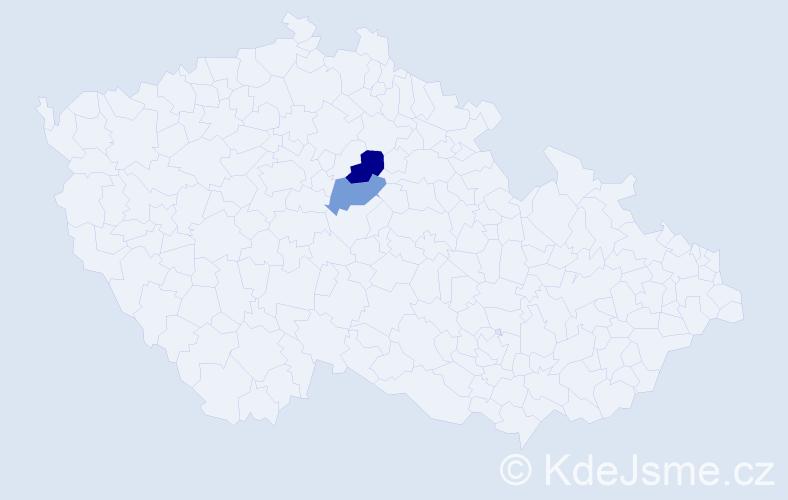Příjmení: 'Konyvka', počet výskytů 7 v celé ČR