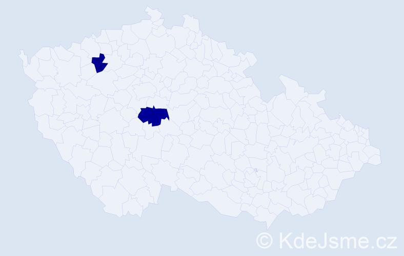 Příjmení: 'Čičatko', počet výskytů 3 v celé ČR