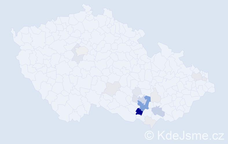 Příjmení: 'Fasora', počet výskytů 80 v celé ČR