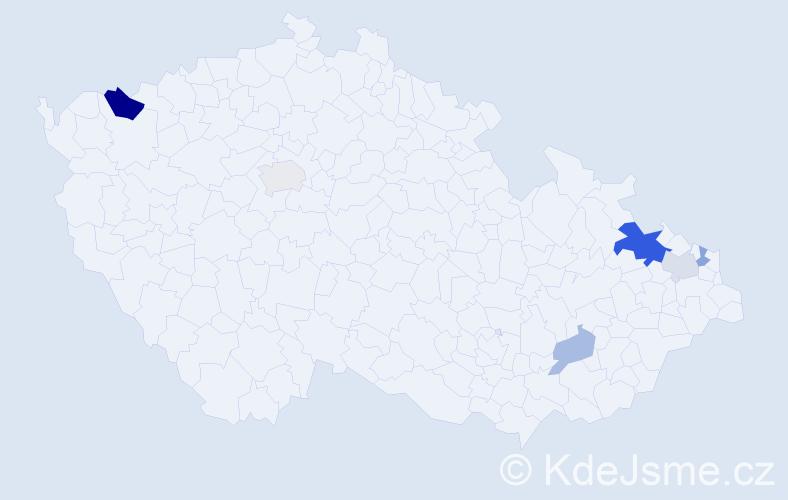 Příjmení: 'Hanšut', počet výskytů 12 v celé ČR