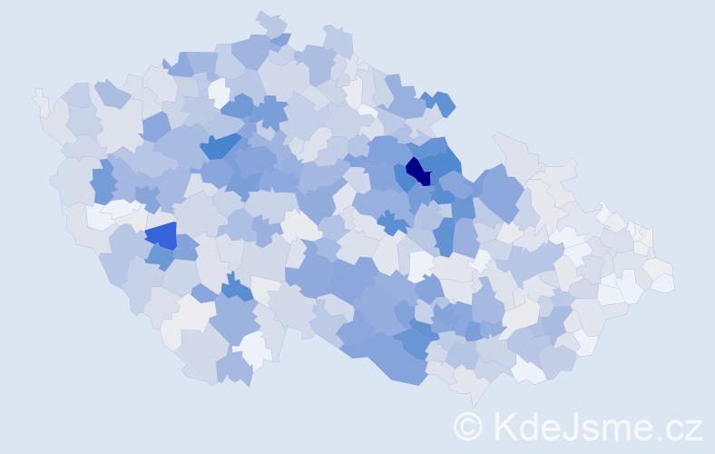 Příjmení: 'Chaloupková', počet výskytů 2813 v celé ČR