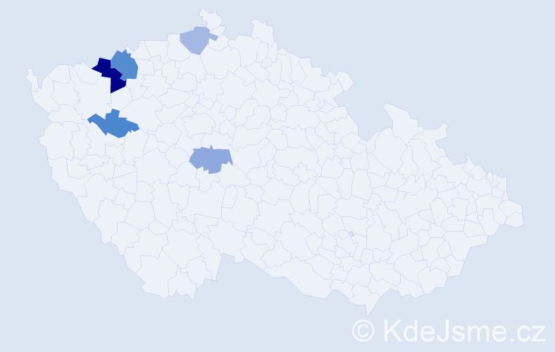 Příjmení: 'Livinková', počet výskytů 10 v celé ČR