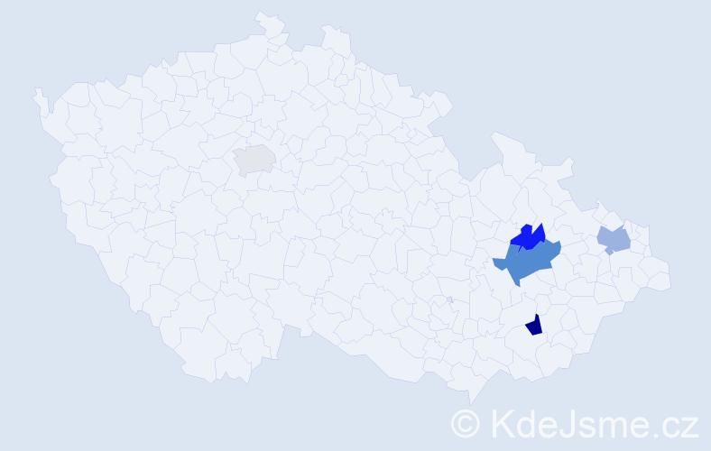 Příjmení: 'Konarik', počet výskytů 9 v celé ČR