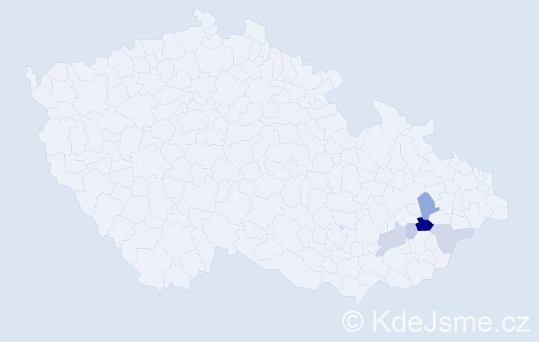 Příjmení: 'Icela', počet výskytů 15 v celé ČR