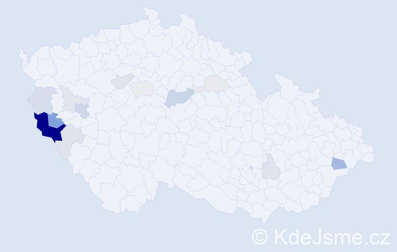 Příjmení: 'Herlík', počet výskytů 46 v celé ČR