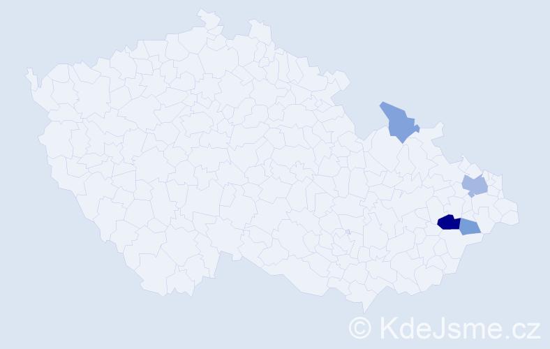Příjmení: 'Federmannová', počet výskytů 9 v celé ČR