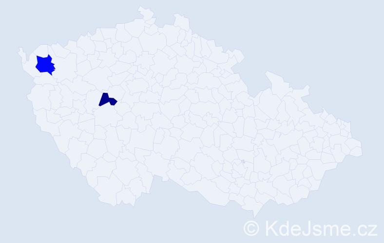 Příjmení: 'Leňka', počet výskytů 6 v celé ČR