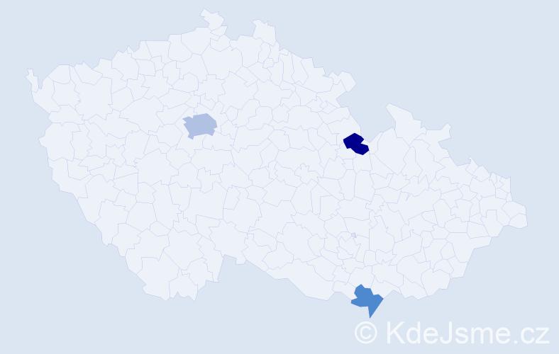 Příjmení: 'Flanagan', počet výskytů 5 v celé ČR