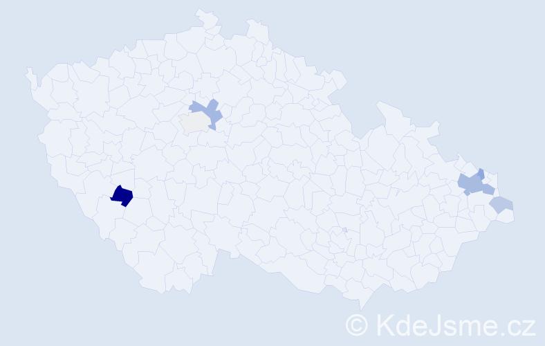 Příjmení: 'Kopkášová', počet výskytů 14 v celé ČR