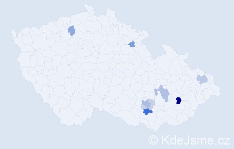 Příjmení: 'Edler', počet výskytů 22 v celé ČR
