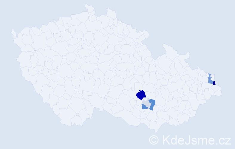 Příjmení: 'Bernacik', počet výskytů 10 v celé ČR