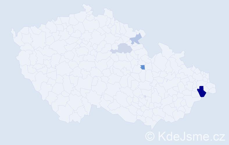 Příjmení: 'Geldner', počet výskytů 6 v celé ČR